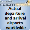 actual arrival and departure destinations, stops and departure airports.