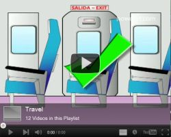 Travel info about airport and plane