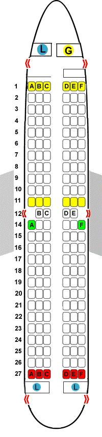 boeing 737-800 winglets stoelen