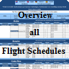 Condensed overview schedules countries and airlines