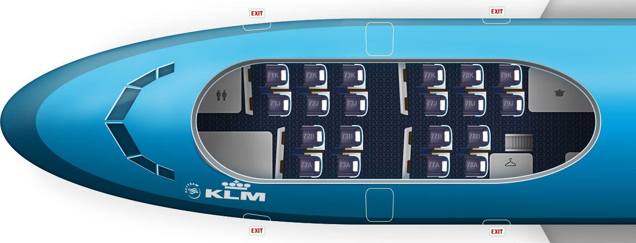 Seatplan Stoelindeling Sitzplan Klm